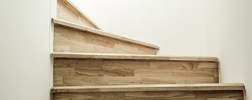 houten trap dicht