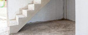 rechte betontrap