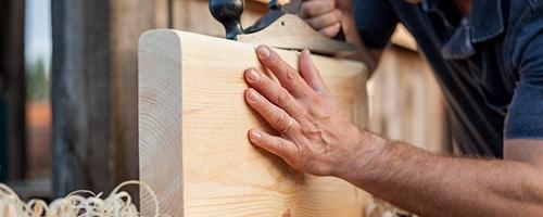 houten trap As